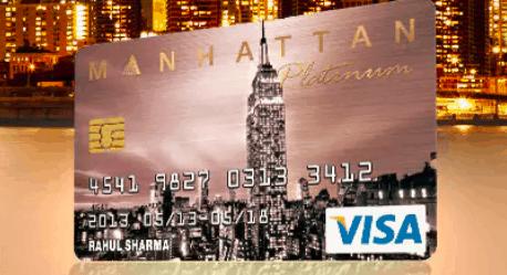 manhattan credit card india